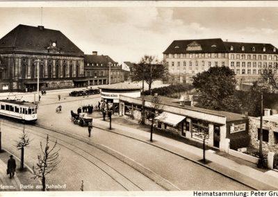 Hamm-Mitte / Bahnhof mit Verkaufspavillons