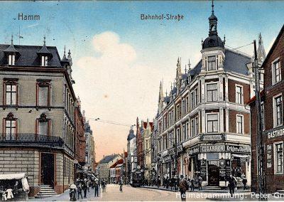 Hamm-Mitte / Bahnhofstraße / Rechts Gasthof zum König (1917)