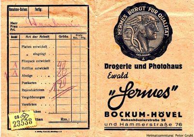 Bockum-Hövel - Drogerie Hermes - Abholschein für Fotoarbeiten