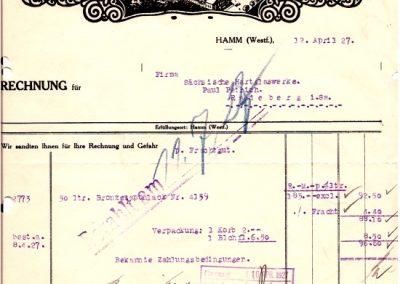 Hamm - Aktiengesellschaft für Lackfabrikation vom 12.04.1927