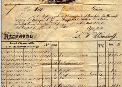 Hamm - Rechnung Mehl-Getreide & Spedititons-Geschäft L.W. Uhlendorff vom 25. Juli 1884