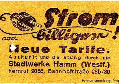 Hamm - Stadtwerke - Straßenbahnfahrschein II Rückseite