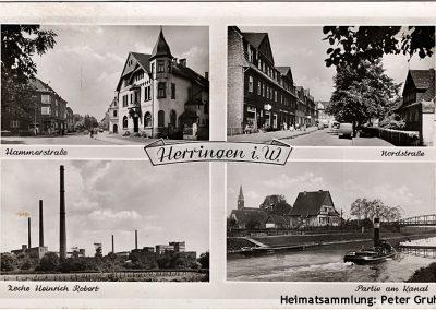 Herringen / Mehrbildkarte 1952
