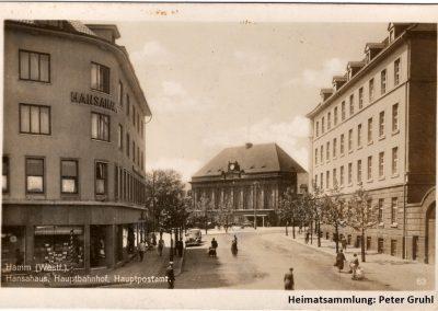 Hamm-Mitte / Hansahaus mit Hauptbahnhof und Hauptpostamt