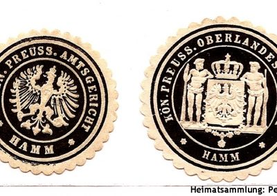 Hamm / Siegelmarken / Königlich Preussisches Amtsgericht und Oberlandesgericht