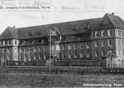 Hövel / Altes Krankenhaus / Feldpost 1917 / Poststempel RADBOD