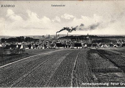Radbod / Blick auf die Kolonie und Zeche / 1916 / Poststempel RADBOD